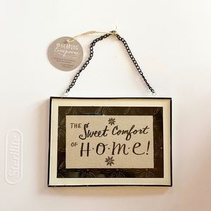 Sweet comfort of home wall hanging new
